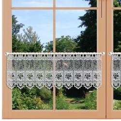 Landhaus-Gardine Sandra Scheibengardine 30cm hoch Fenster