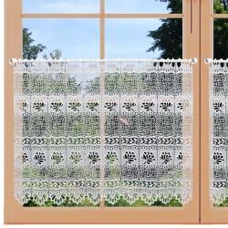 Landhaus-Gardine Sandra Scheibengardine 65 cm hoch Fenster