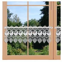 Landhaus-Gardine Schmetterling Scheibengardine 30cm hoch Fenster