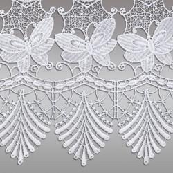 Landhaus-Gardine Schmetterling Scheibengardine Detail