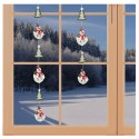 Girlande / Fensterbild Schneemann-Fensterdekoration aus Echter Plauener Spitze am Fenster