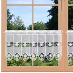 Scheibengardine Lotta weiß 30 cm am Fenster