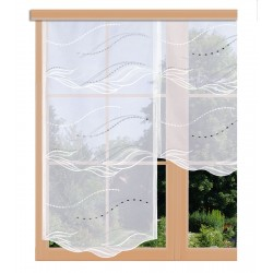 Flächengardine Saskia in weiß grau am Fenster