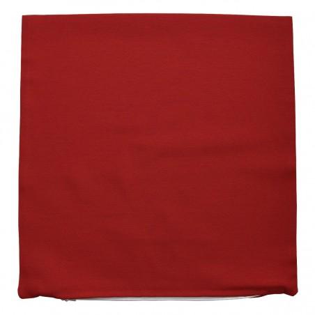 Kissenhülle Fanni in rot uni ohne Füllung