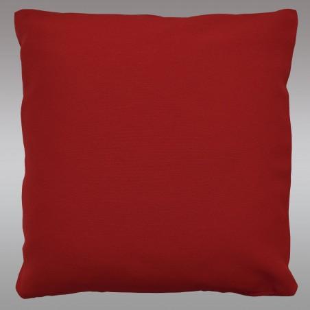 Kissenhülle Fanni in rot uni mit Füllung