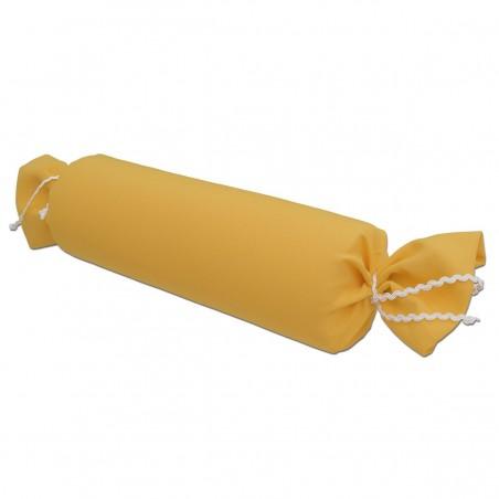 Schlummerrolle Fanni in gelb uni Seitenansicht