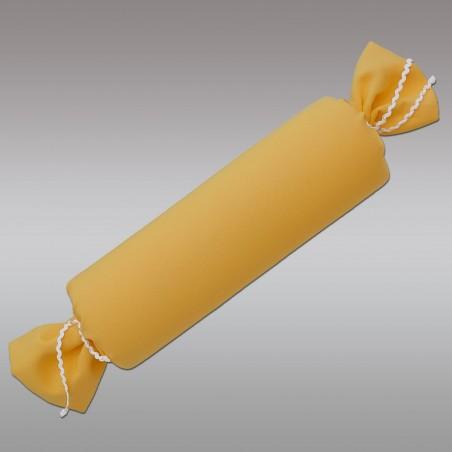 Schlummerrolle Fanni in gelb uni mit Hintergrund