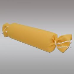Schlummerrolle Fanni in gelb uni von der Seite