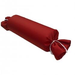 Schlummerrrolle Fanni in rot uni Seitenansicht