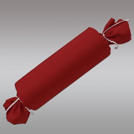 Schlummerrrolle Fanni in rot uni mit Hintergrund