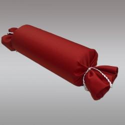 Schlummerrrolle Fanni in rot uni von der Seite