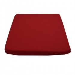 Sitzkissen Fanni in rot uni