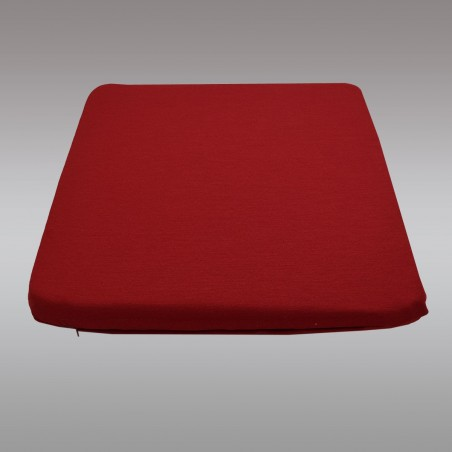 Sitzkissen Fanni in rot uni mit Füllung