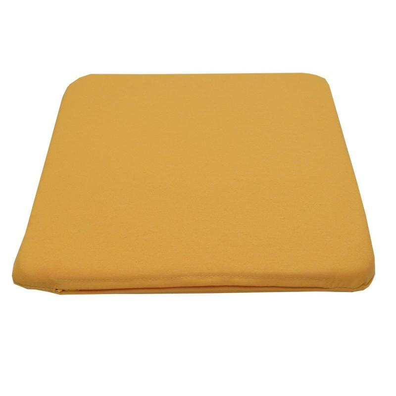 Sitzkissen Fanni in gelb uni mit Füllung