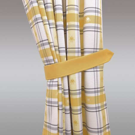 1 Paar Raffhalter Fanni in gelb uni Beispielbild