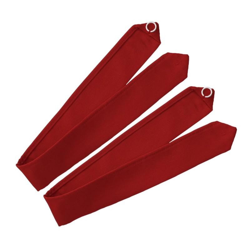 1 Paar Raffhalter Fanni in rot uni