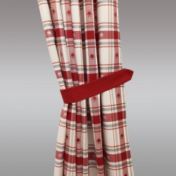 1 Paar Raffhalter Fanni in rot uni Beispielbild