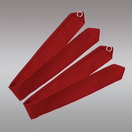 1 Paar Raffhalter Fanni in rot uni Musterbild