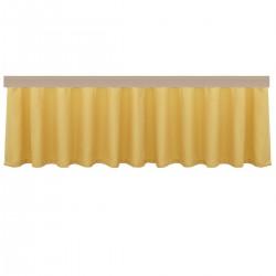Querbang Fanni in gelb uni mit Reihband