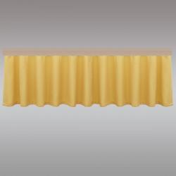 Querbang Fanni in gelb uni mit Reihband Musterbild