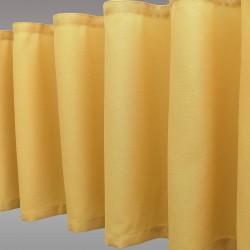 Querbang Fanni in gelb uni mit Reihband Falten