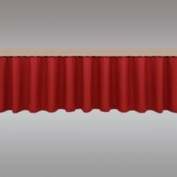 Querbang Fanni in rot uni mit Reihband Musterbild