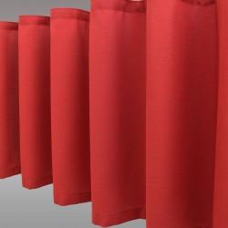 Querbang Fanni in rot uni mit Reihband Falten