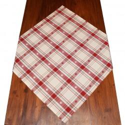 Mitteldecke Fanni in rot kariert 80 x 80 cm auf dem Tisch