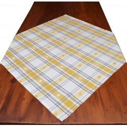 Mitteldecke Fanni in gelb kariert 80 x 80 cm auf dem Tisch