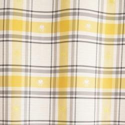 Stoffmuster Fanni in Gelb karo