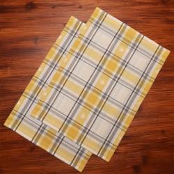 1 Set Platzdeckchen Fanni in gelb kariert auf Holz