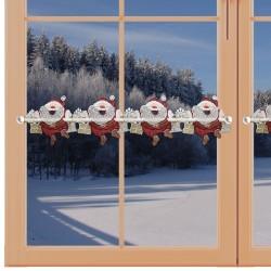 Feenhaus-Scheibengardine Santa Plauener Spitze am Fenster