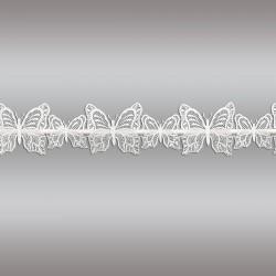 Feenhaus-Scheibengardine Schmetterlinge Plauener Spitze Musterbild