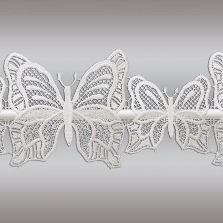 Feenhaus-Scheibengardine Schmetterlinge Plauener Spitze Detailbild