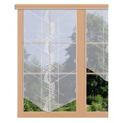 Scheibenhänger Maxi in weiß aus Plauener Spitze am Fenster dekoriert