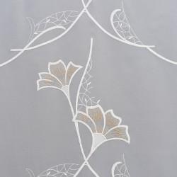 Scheibenhänger Ginko in beige aus Plauener Spitze Detailbild