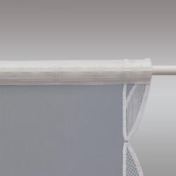 Scheibenhänger Ginko in beige aus Plauener Spitze Stangendurchzug