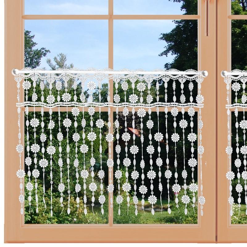 Blumen-Scheibenhänger Fadengardine an einem Fenster
