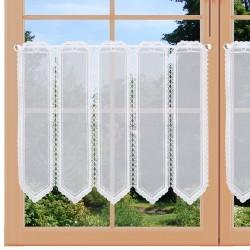 Moderne Stickerei-Scheibengardine Elenia Darstellung an einem Fenster