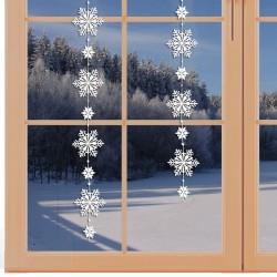 Girlande / Fensterbild Schnee-Stern Winter-Fensterdekoration am Fenster