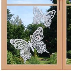 Set 2 Stück Fensterbilder Schmetterlinge Nahansicht