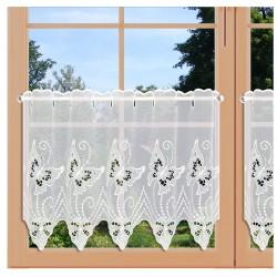 Spitzen-Scheibengardine Schmetterlinge Plauener Spitze 2 Höhen am Fenster
