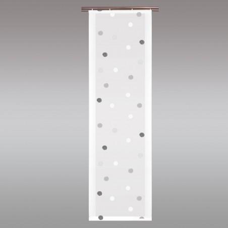 Flächengardine Fensterstore 'Punkte schwarz-weiß' modern Flächenvorhang 4 Höhen