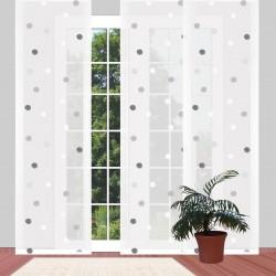 Flächengardine Fensterstore 'Punkte schwarz-weiß' modern Flächenvorhang an einem Terrassenfenster