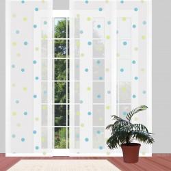 Flächengardine Fensterstore 'Punkte Pastell' modern Flächenvorhang 4 Höhen