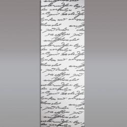 Flächengardine 'Script' moderner Flächenvorhang mit stilisierter Schrift grau