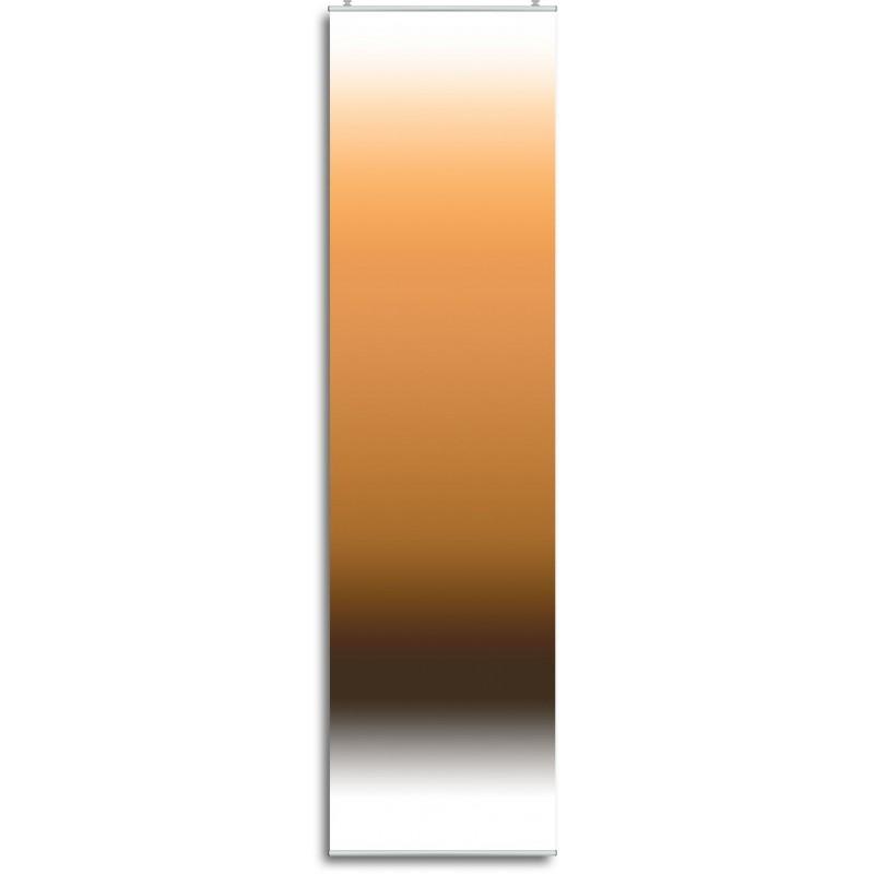 """Schiebegardine """"Farbverlauf Orange"""" incl. Paneelwagen, Klemmleiste, Schiebevorhang"""