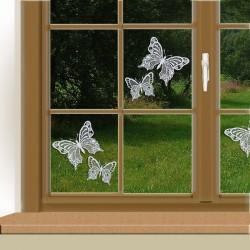 Set 2 Stück Fensterbilder Schmetterlinge Beispielbild mit 2 Sets