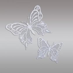 Set 2 Stück Fensterbilder Schmetterlinge Detailansicht