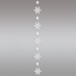 Girlande / Fensterbild Schnee-Stern Winter-Fensterdekoration Einzelansicht